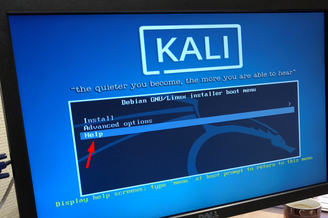 Kali Linux Install Screen